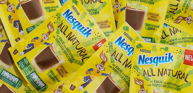 nesquik recyclable packaging