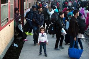Refugiados chegam a Europa